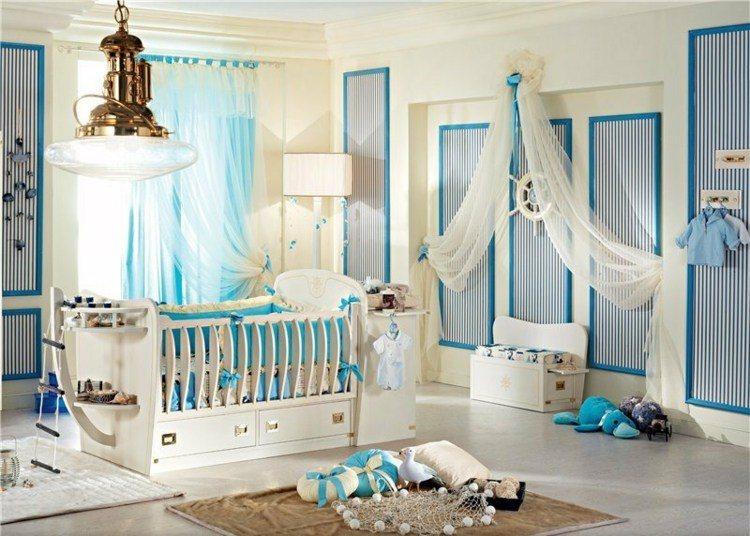 diseño habitaciones infantiles barco timon lampara