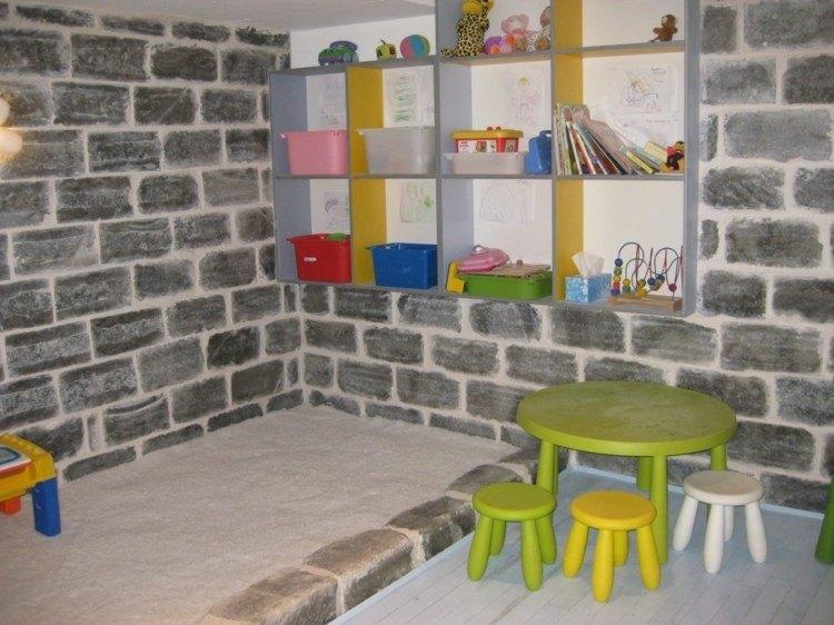 diseño habitaciones infantiles ladrillo arena juego