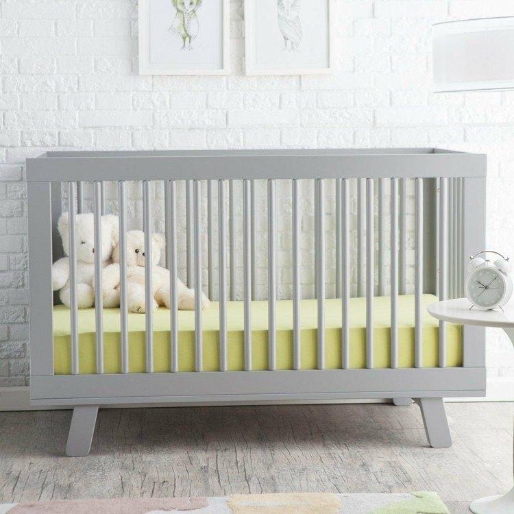 diseño habitaciones infantiles ladrillo blanco osos