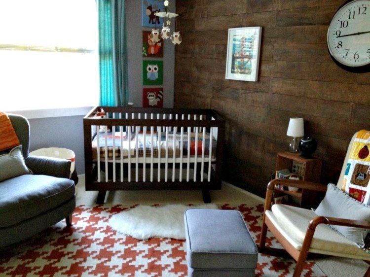 diseño habitaciones infantiles madera cojines acento
