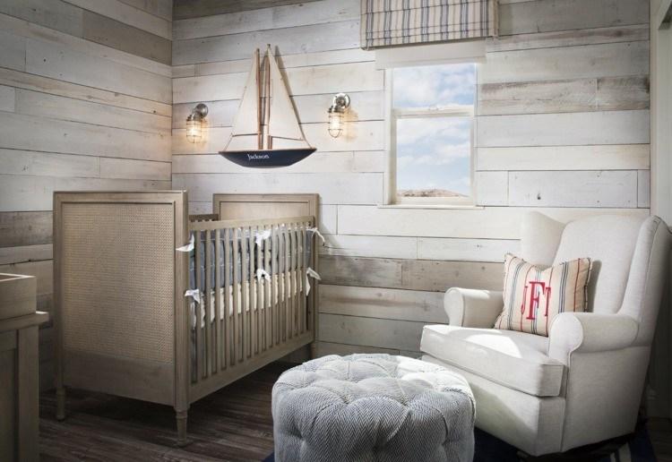 diseño habitaciones infantiles madera cortinas marinero