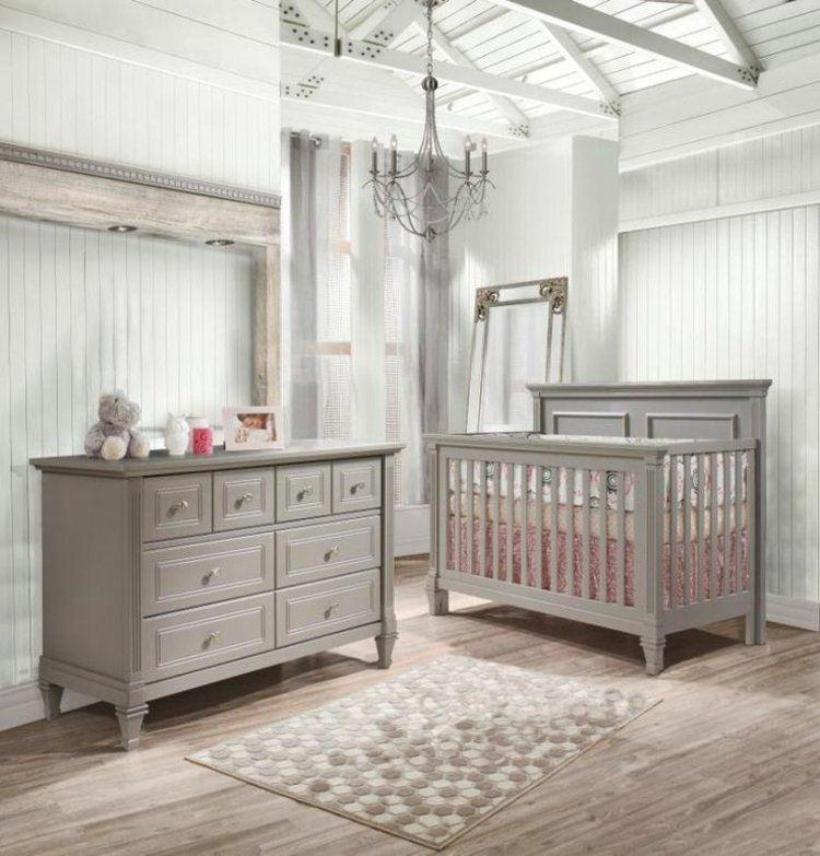 diseño habitaciones infantiles madera gris lampara