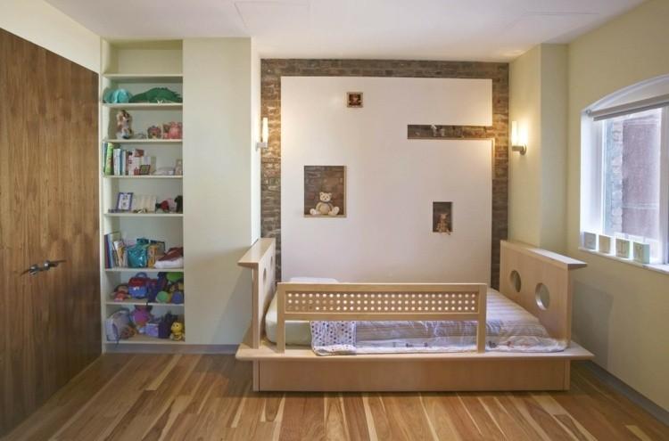 diseño habitaciones infantiles madera niños suelo