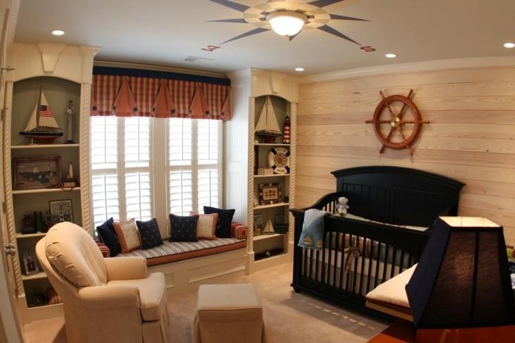 diseño habitaciones infantiles marinero estilo brujula