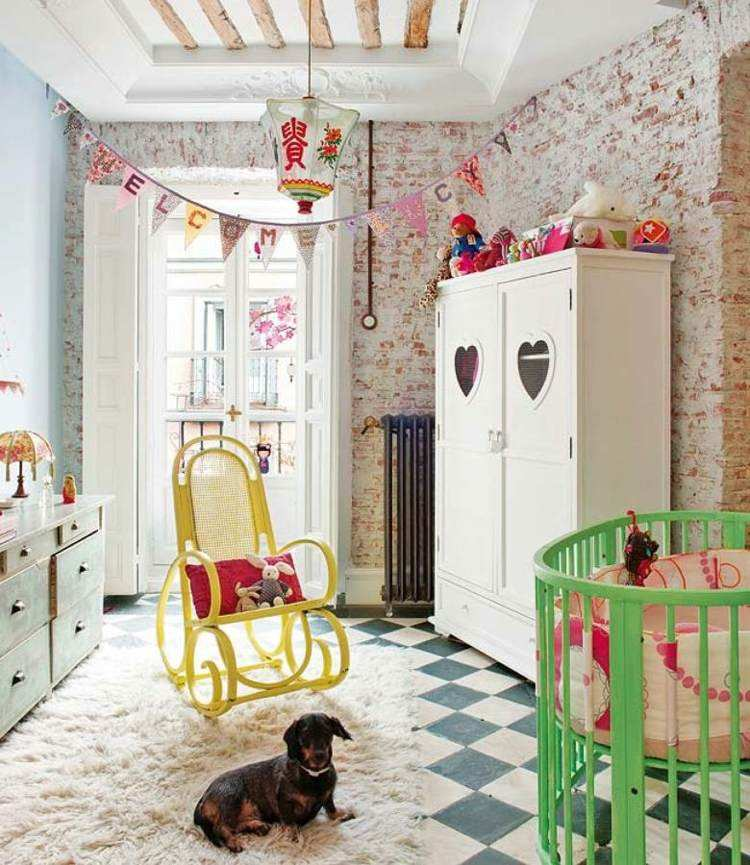 diseño habitaciones infantiles perro ladrillos mascota