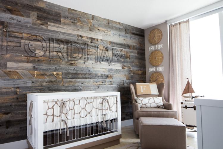 diseño habitaciones infantiles madera estilo