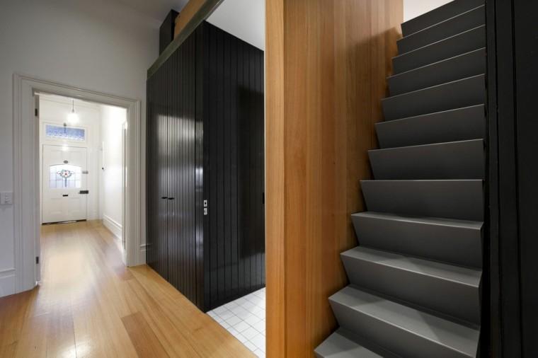 diseño interiores de casas modernas escalera empinada
