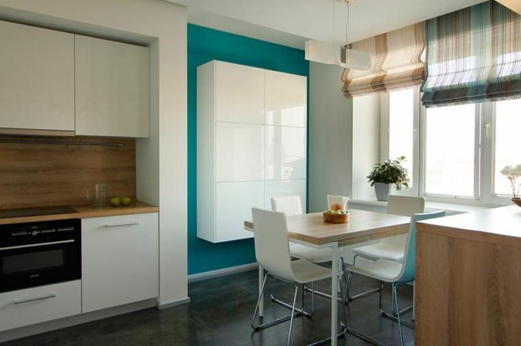 diseño interiores minimalistas centro frutas estantes