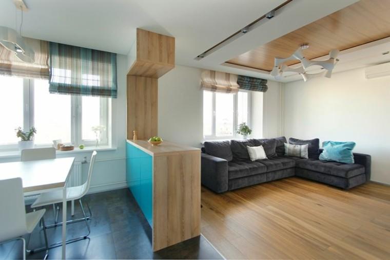 diseño interiores minimalistas comedor sillas madera