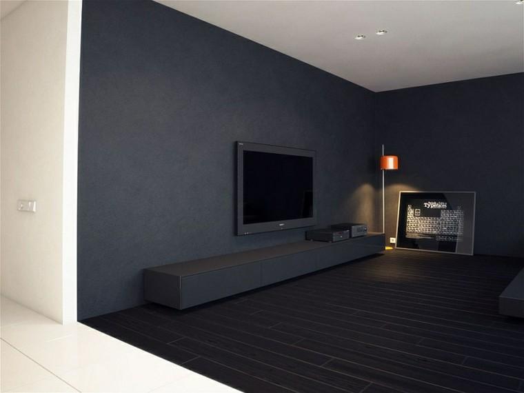diseño interiores minimalistas cuadro suelo blanco