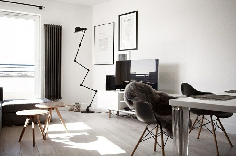diseo interiores minimalistas escandinavo minimalista pieles - Diseo Minimalista