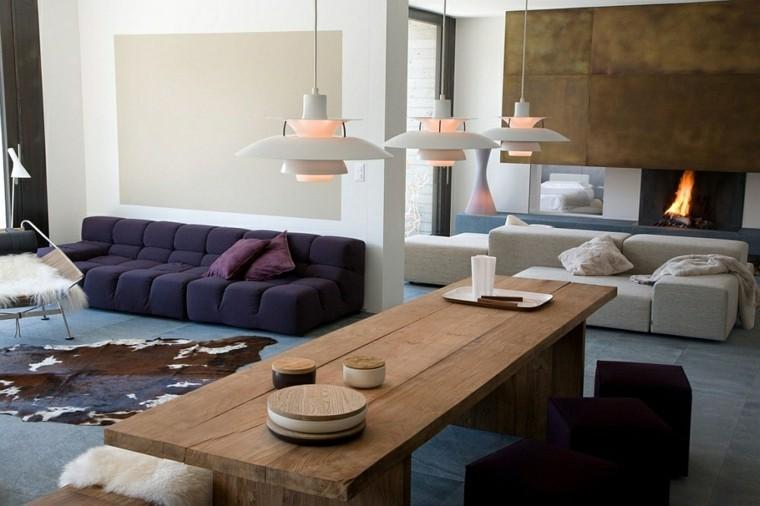 diseño interiores minimalistas pieles apartamento madera