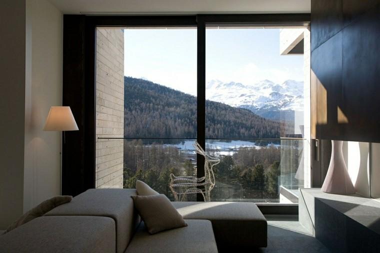 diseño interiores minimalistas venado cristal casa