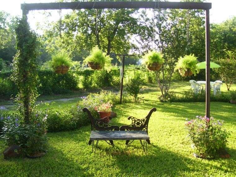 diseño jardines banca diy colgantes