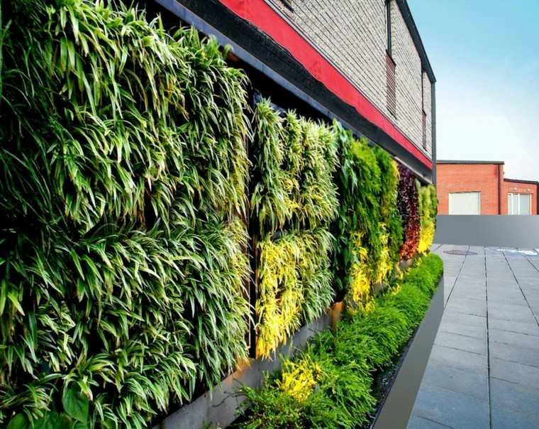 diseño jardines verticales abierto exteriores