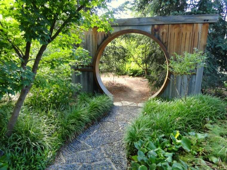 diseño jardines creativo sendero circular
