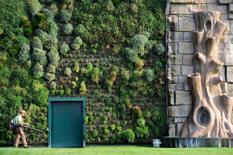 diseño jardines verticales limpieza puerta