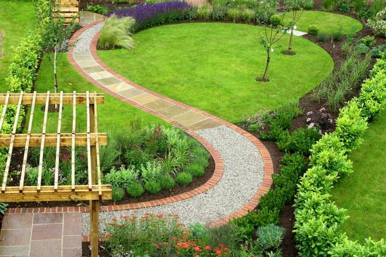 diseño jardines ondulado sendero moderno