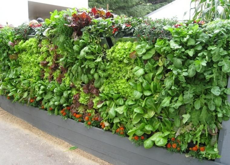 diseño jardines verticales gris muro