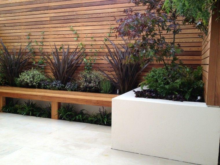 diseño jardines pequeños jardineras plantas