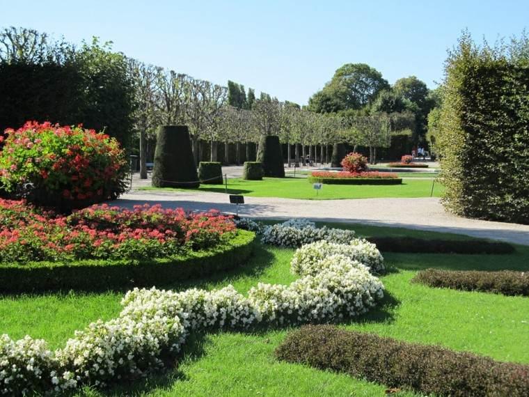 diseño jardines recortado plantas flores