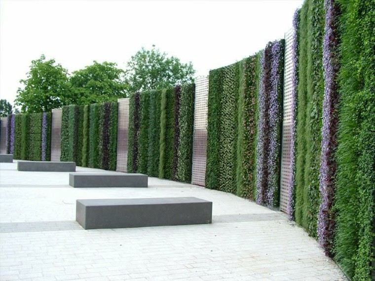 diseño jardines verticales casa exteriores diseño