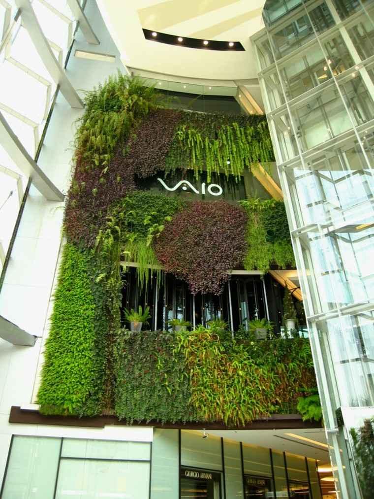 diseño jardines verticales edificio moderno cristales
