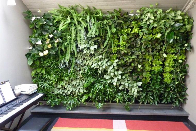 diseño jardines verticales piano toallas helechos