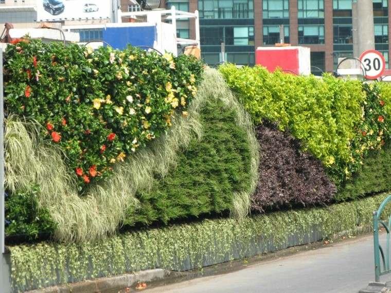 diseño jardines verticales señal calle ambiente