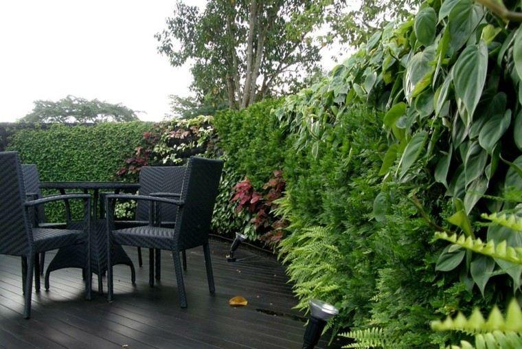 diseño jardines verticales sillas suelo