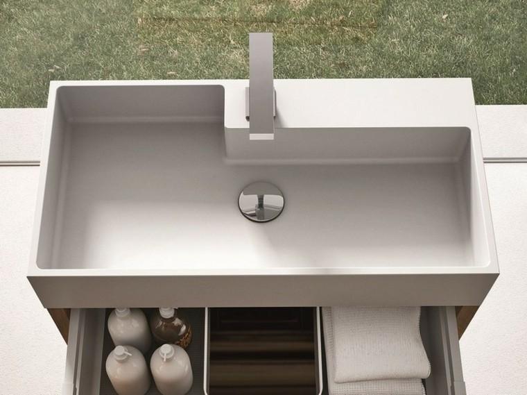 diseño lavabo moderno forma ele
