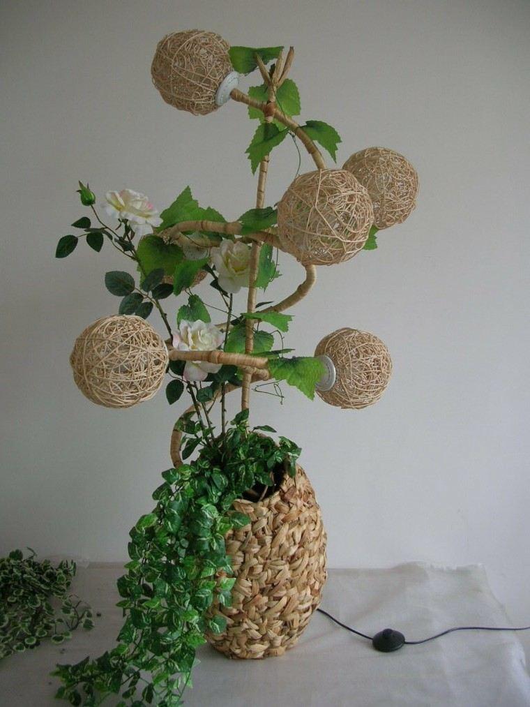 diseño manualidades plantas lampara esferas