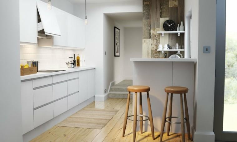diseño minimalista blanco madera