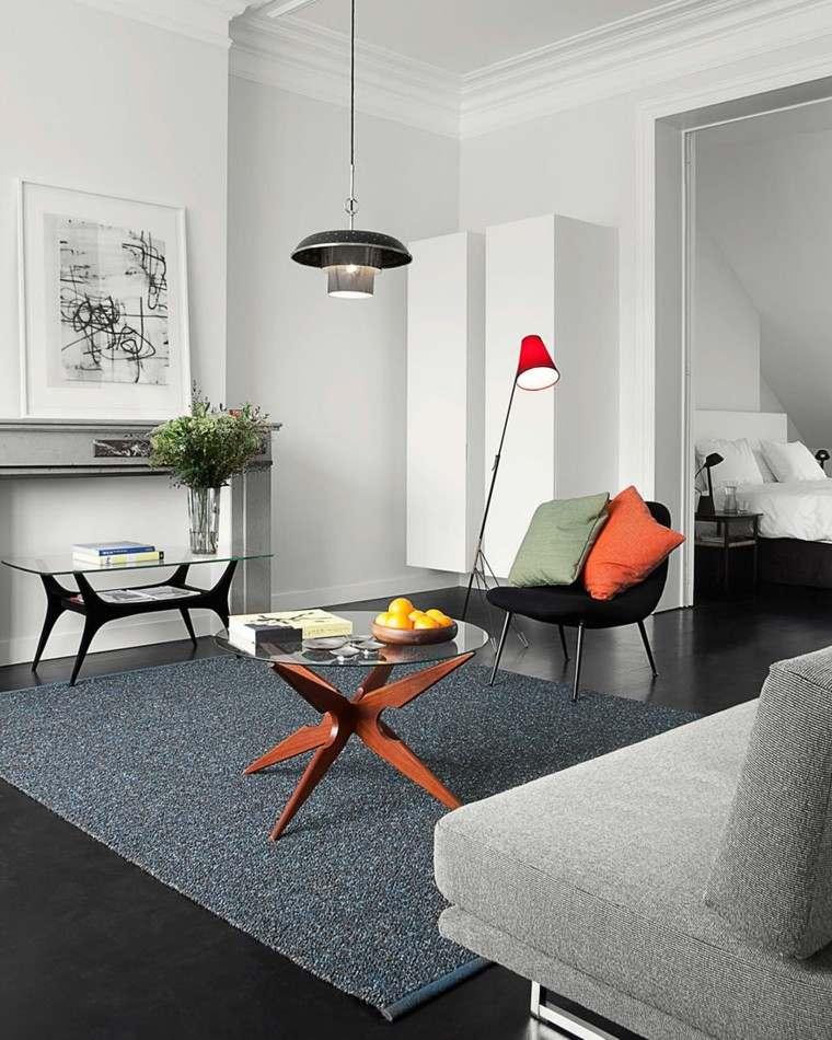diseño estilo minimalista cojin naranja