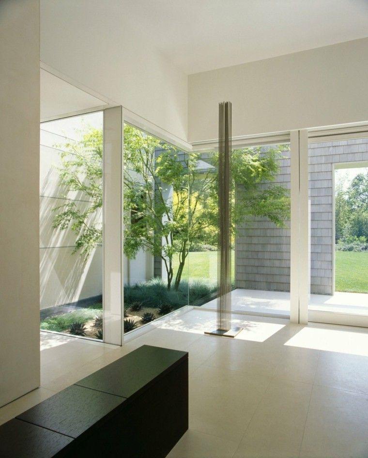diseño estilo minimalista jardin interior