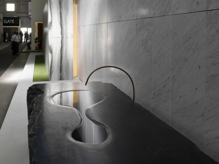 diseño moderno lavabo forma charco