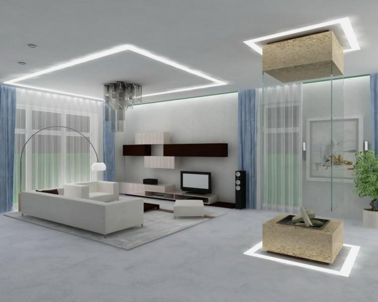 diseño moderno salas de estar luces