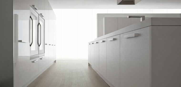 diseño muebles cocina blancos modernos