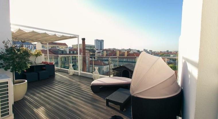 Decoracion terraza aticos dise os modernos de gran altura for Diseno terrazas modernas