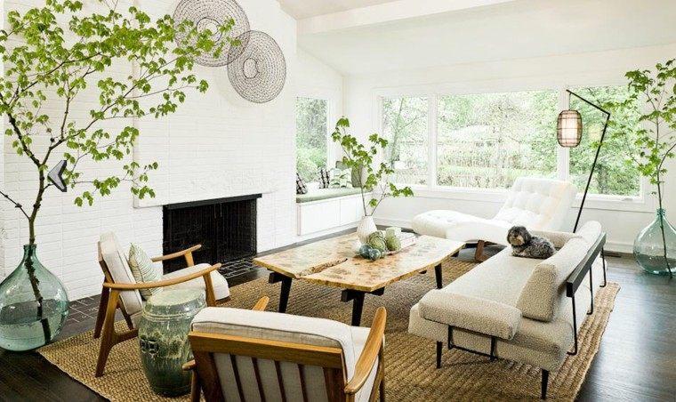 diseño estilo nordico salon chimenea natural
