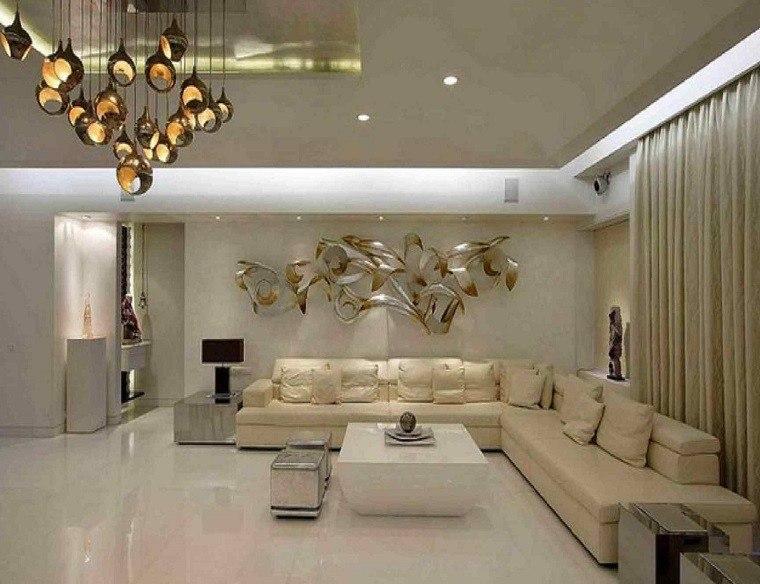 diseño salones lujosos color beige