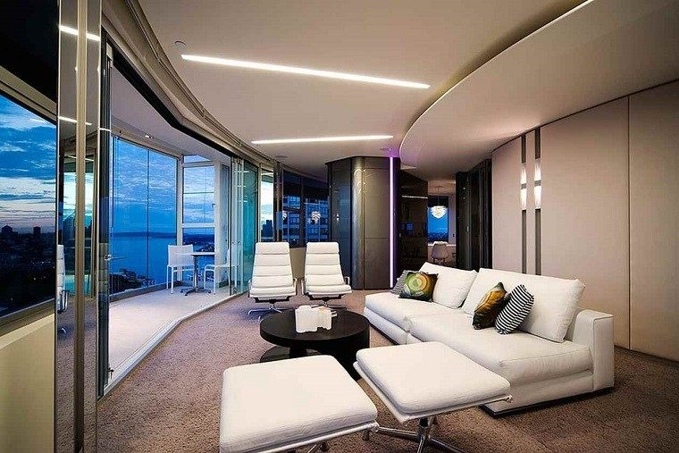 diseño salones lujosos modernos vistas