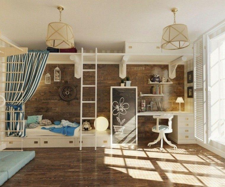 diseño estilo vintage cuarto infantil