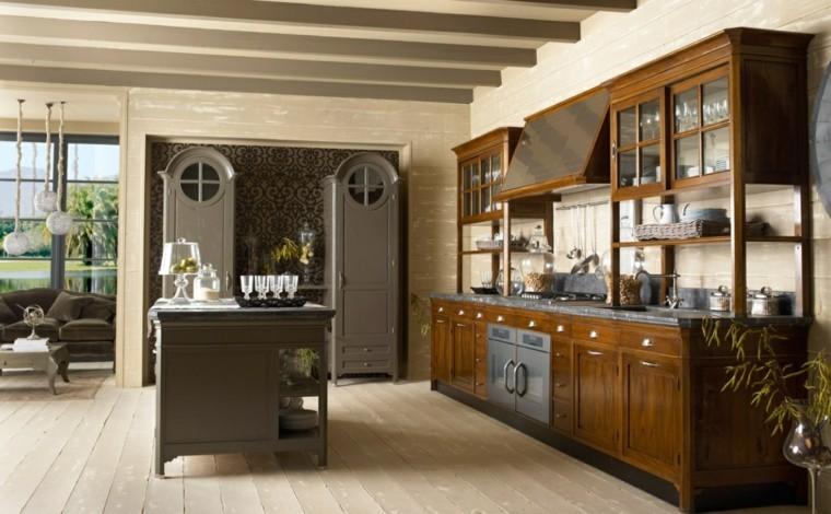 diseños de cocinas modernas madera