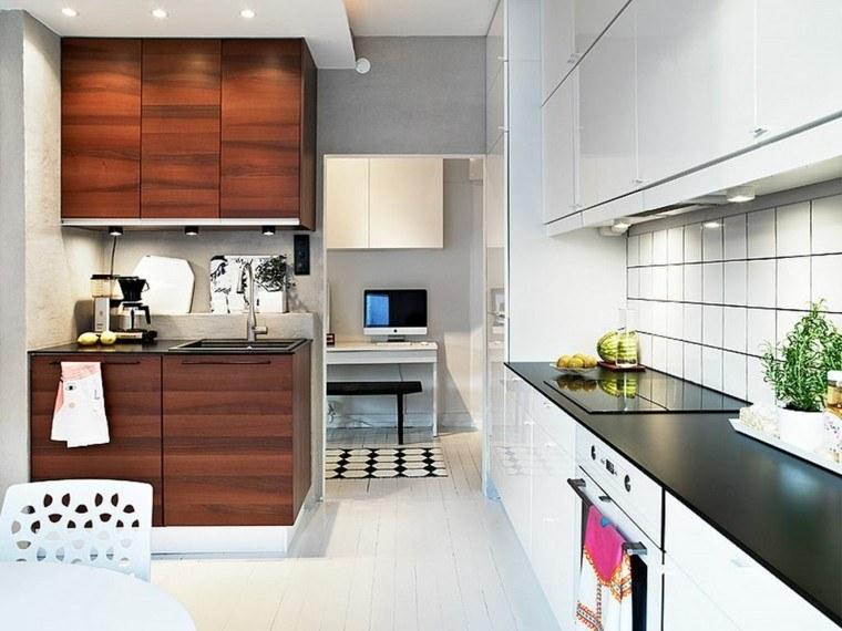 diseños de cocinas pequeñas modernas