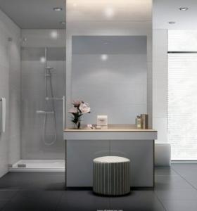 Lamparas de techo para cuartos de ba o 50 ideas for Banos colores claros