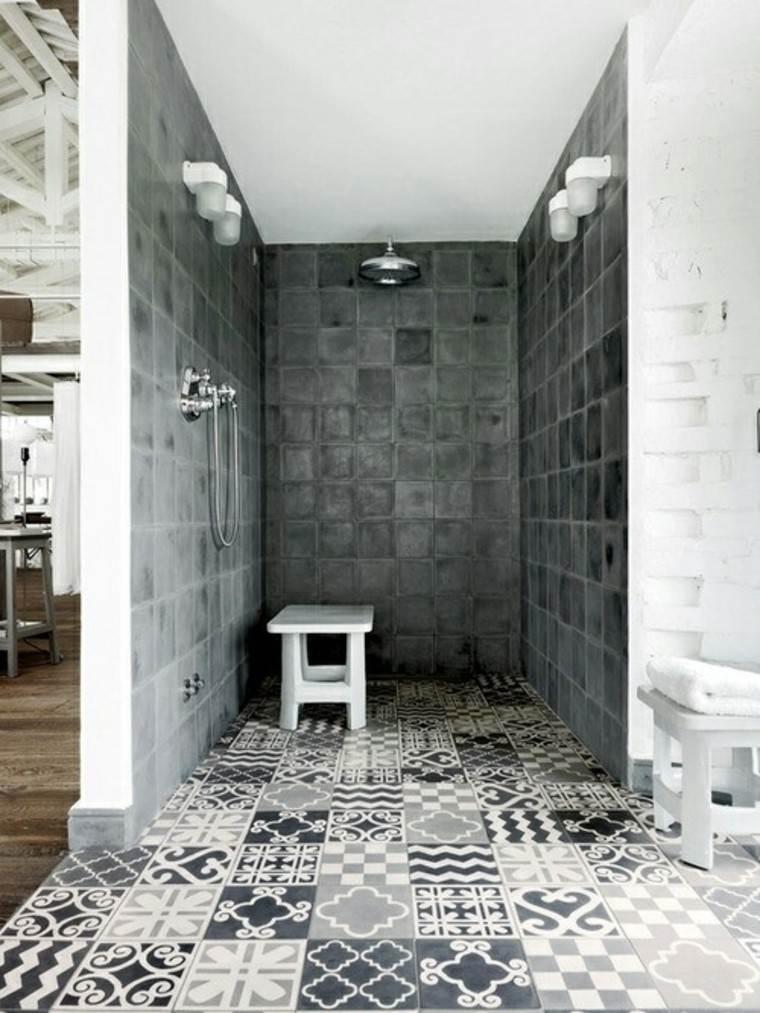 Diseno De Baños Color Gris:diseño de baños losas grises preciosas silla ideas