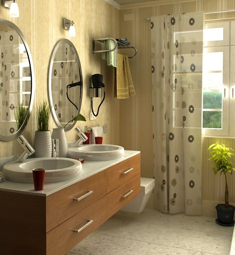 diseños de baños modernos contemporaneo lavabo madera ideas