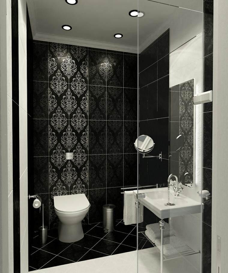 diseños de baños modernos estilo clasico losas decoradas ideas