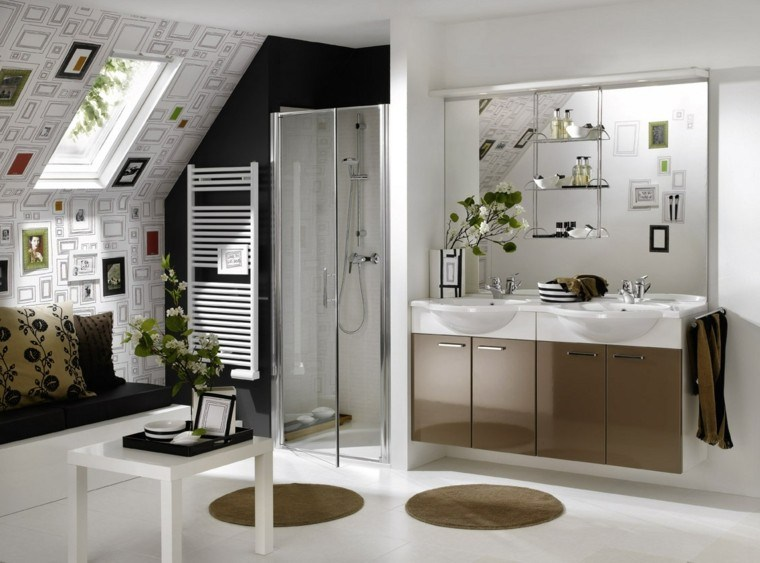 Cortinas de baño modernas vidrio: mamparas de ducha sin perfiles ...